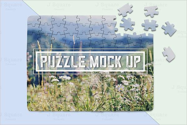 Puzzle PSD Mockup Design