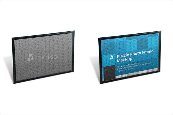 Puzzle Photo Frame Design Mockup