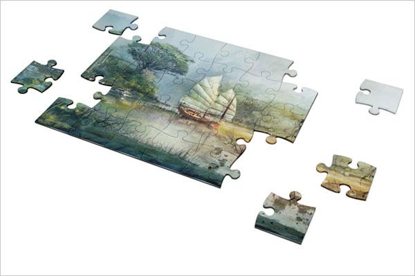 Puzzle Photoshop Mockup