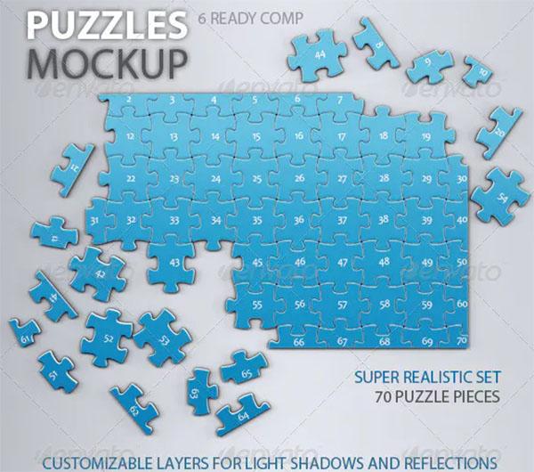 Puzzles 70 Pieces Mock-up