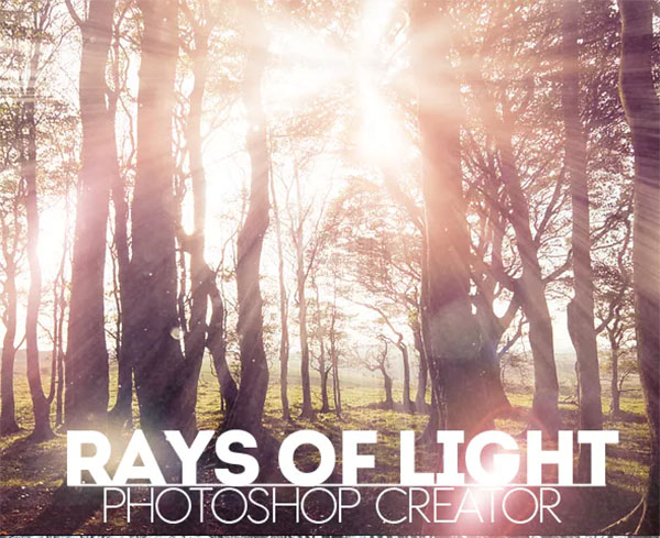 Rays of Light Photoshop Action