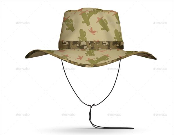 Realistic Bucket Hat Mockup