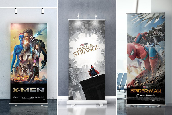 Realistic Rollup Banner Mockup