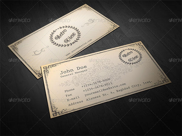 Retro PSD Vintage Business Card