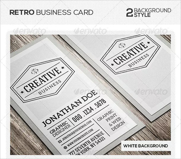 Retro Vintage Business Card Design