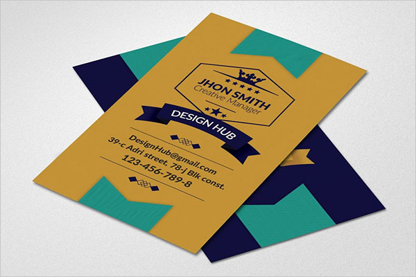 Retro Vintage Vertical Business Card Template