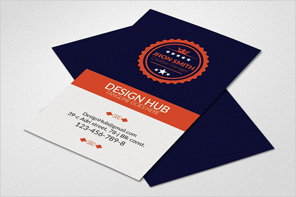 Retro Vintage Vertical Business Card