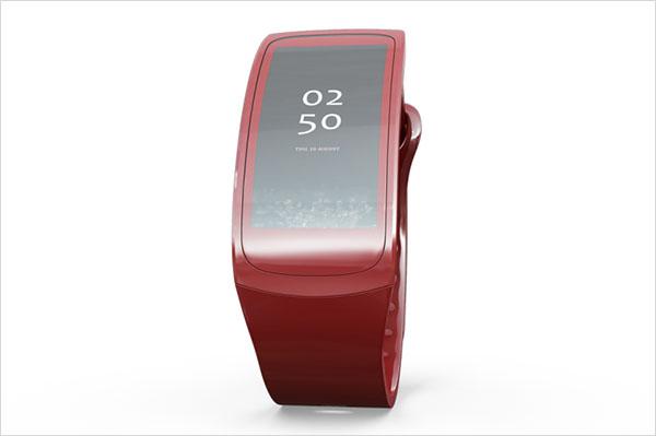 Samsung Watch Gear Fit Mockup