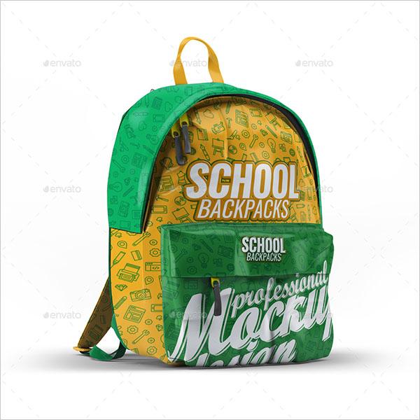 School Backpacks Mock-Up