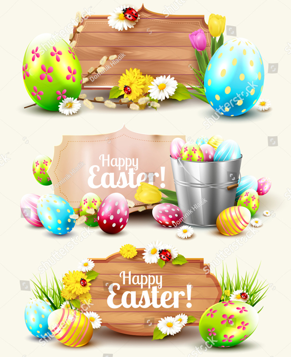 Set of Easter Headers and Banners