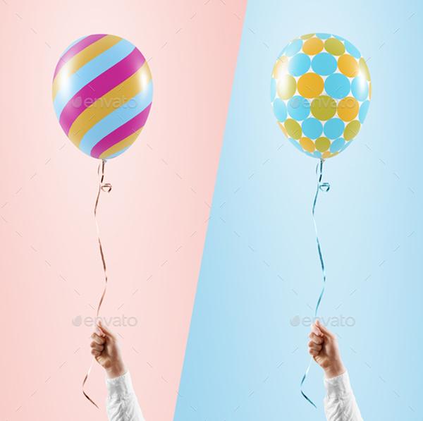 Simple PSD Balloon Mockup