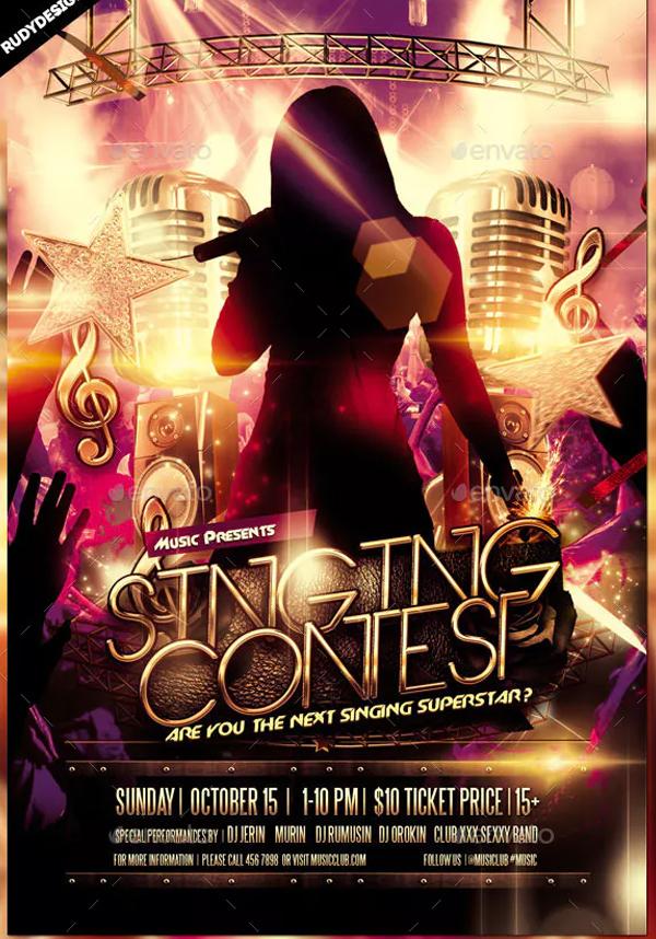 Singing Contest Flyer Design