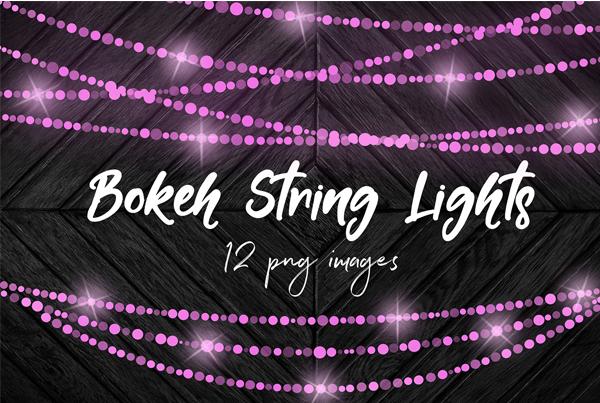 Sparkle String Light Overlays