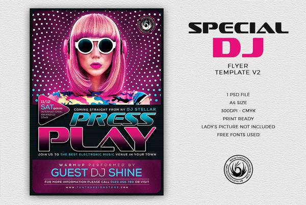 Special DJ Flyer Template