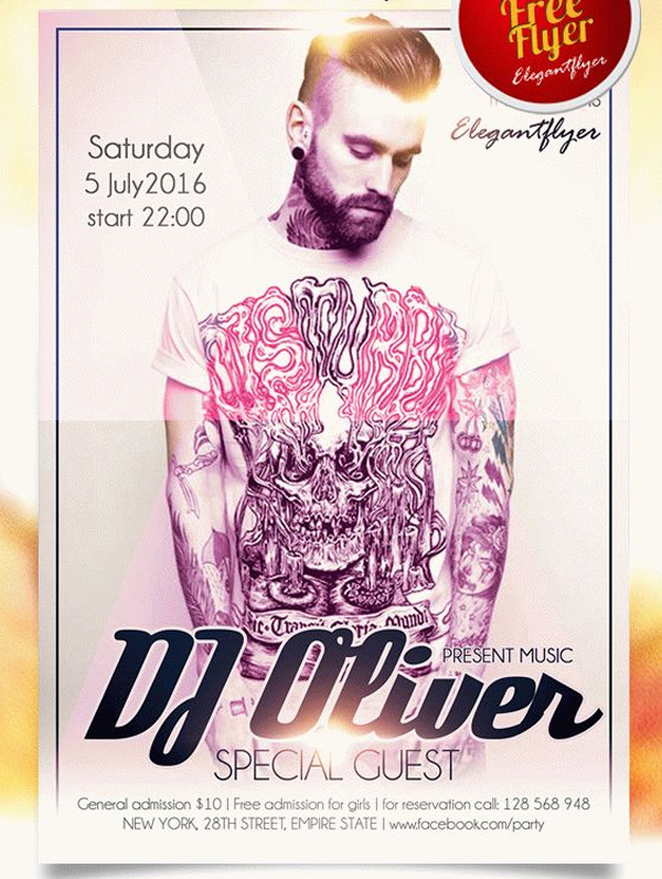 Special Guest DJ Free Flyer Photoshop Template