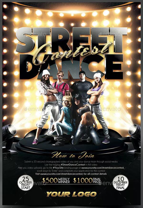 Street Dance Contest Flyer PSD Template