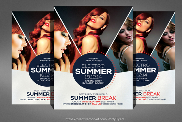 Summer Night Party Flyer Contest Template