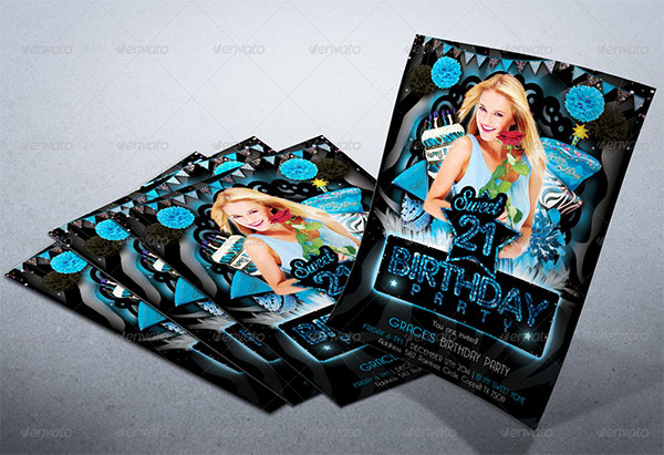 Sweet Birthday Party Flyer Template