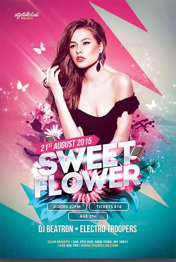 Sweet Flower Flyer Template