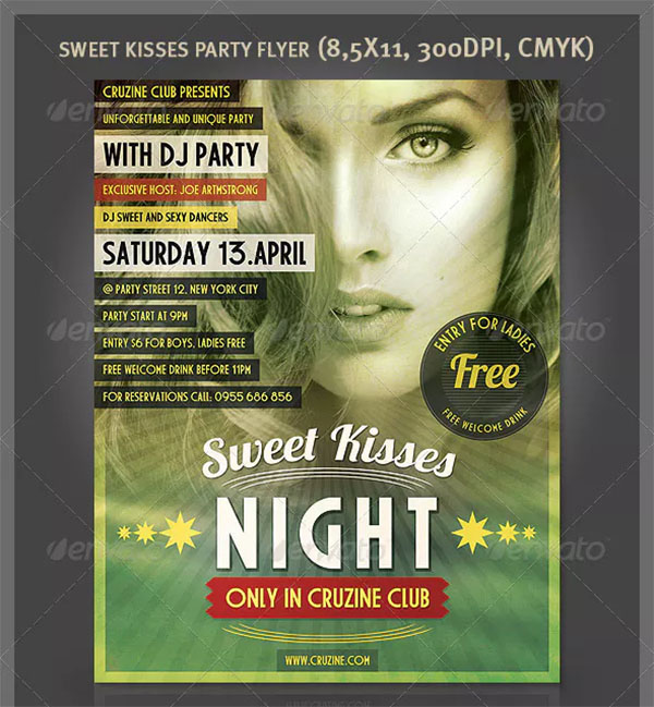 Sweet Kisses Party Flyer