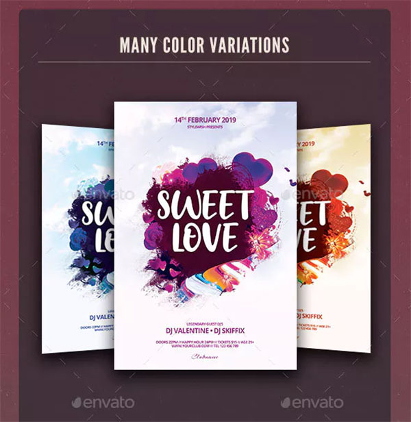 Sweet Love Flyer Template Design