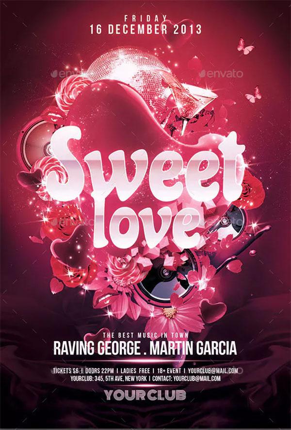 Sweet Love Flyer Template