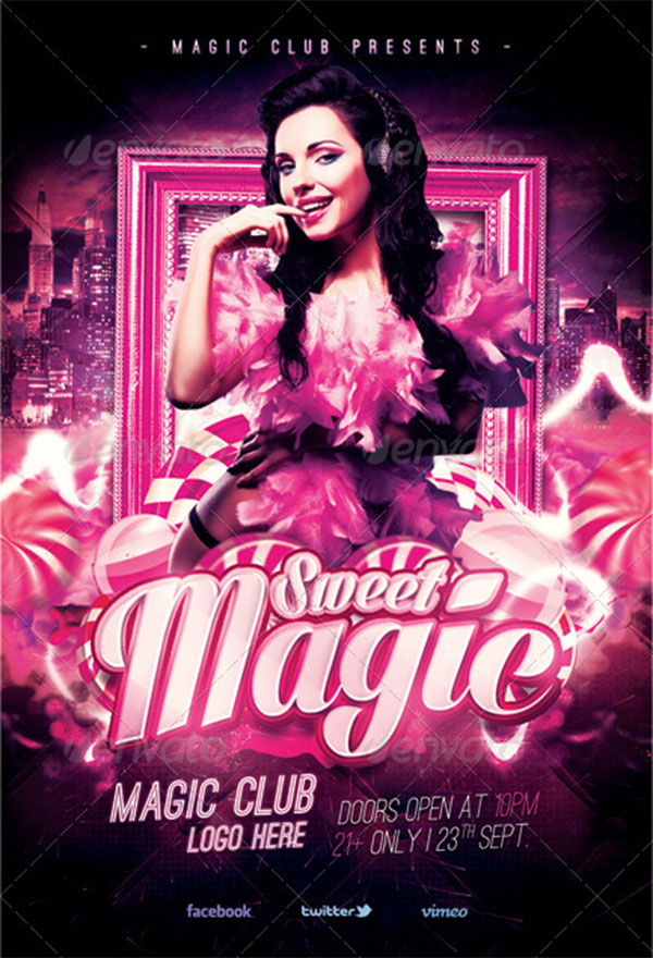 Magic Sweet Party Flyer Templates