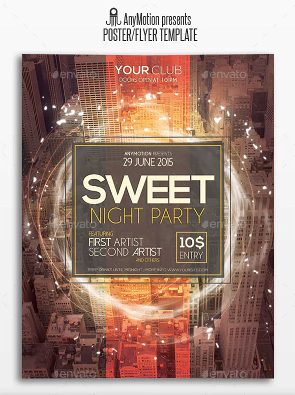 Sweet Night Party Flyer & Poster