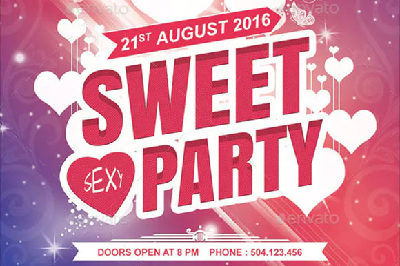 Sweet Party Flyer Templates