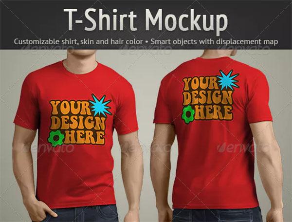 T-Shirt Mockup Template Design