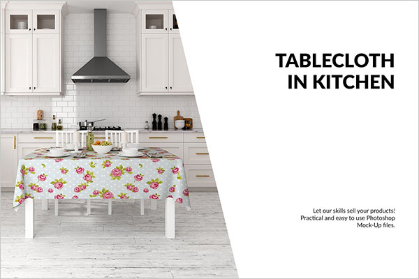 Tablecloth Kitchen Mockup Set