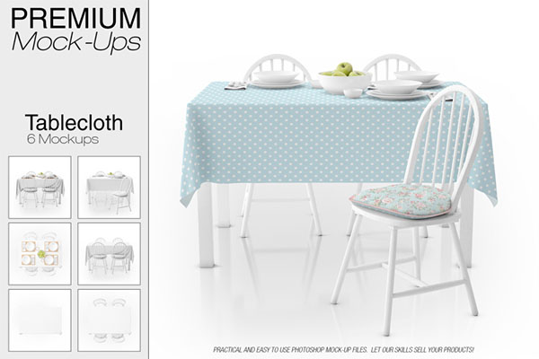 Tablecloth Mockup Set Design