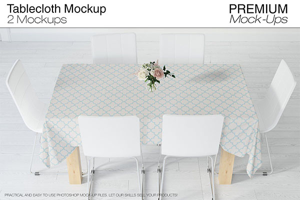 Tablecloth Mockup Set PSD Design