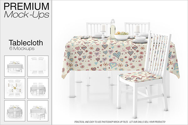Tablecloth PSD Mockup Set