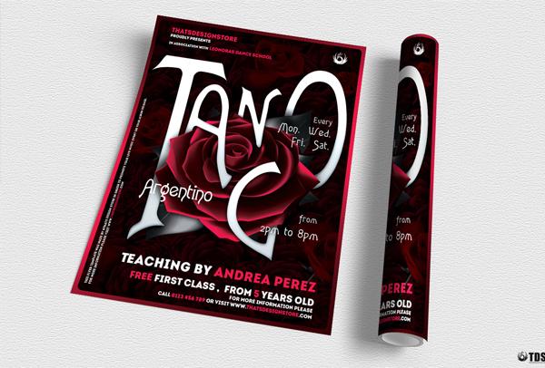 Tango Flyer Contest Template