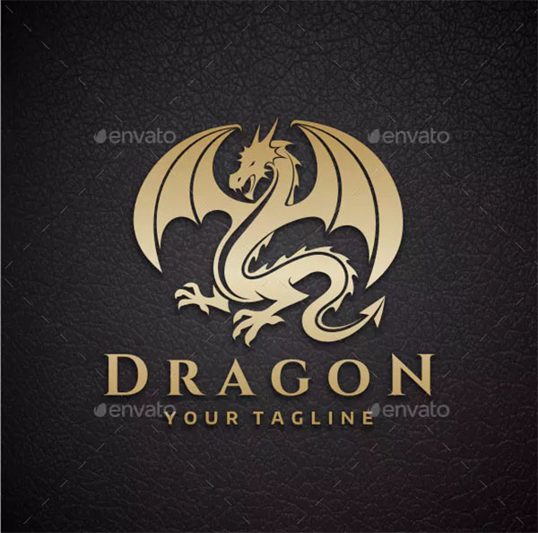 The Dragon Logo Design
