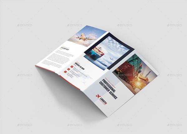 Transport Logistic Tri-Fold Brochure Template