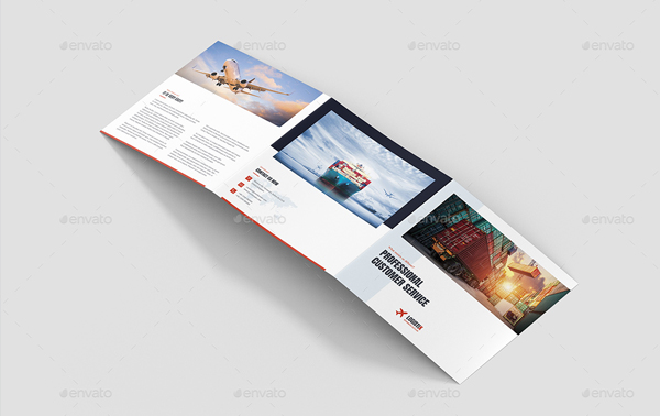Transport Logistic Tri-Fold Square Brochure Template