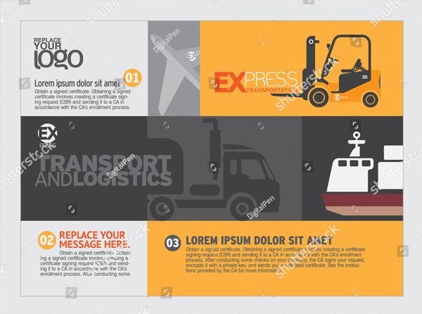 Transportation Brochure & Flyer Design Template
