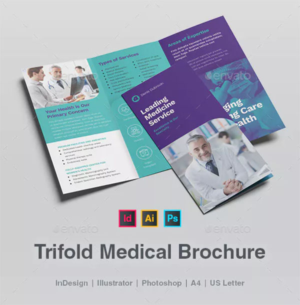 Trifold Medical Brochure Template