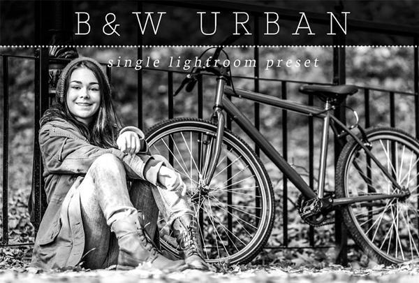 Urban Black & White Lightroom Preset