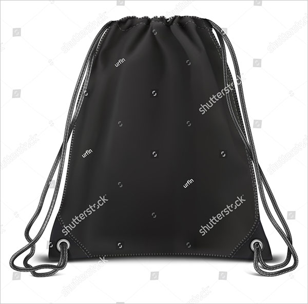 Vector Black Mock up Backpack Bag