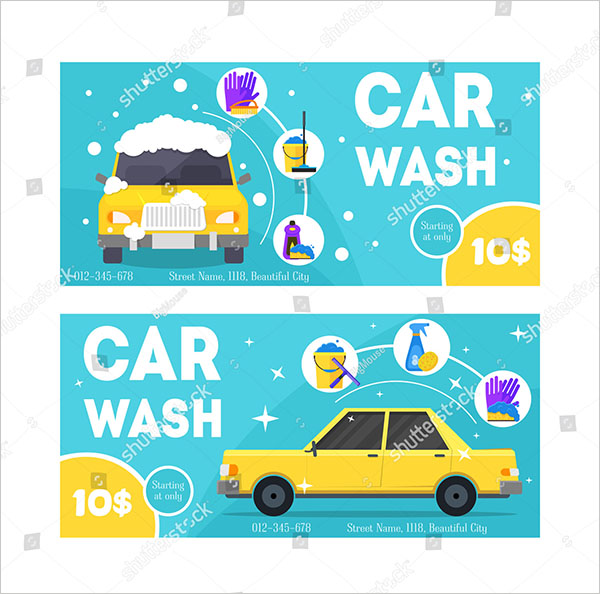 Vector Car Wash Service Template