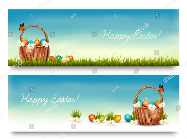 Vector Happy Easter Banners