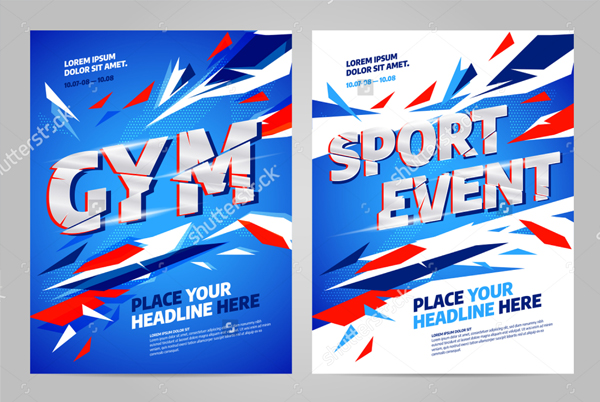 Vector Layout Design Template for Sports Event