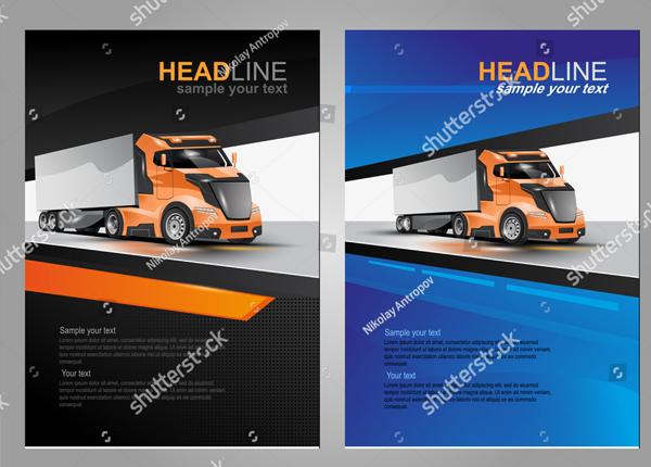 Vector Logistic Brochure Template