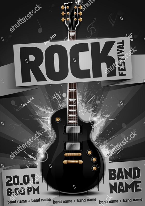 Vector Rock Festival Flyer Design Template