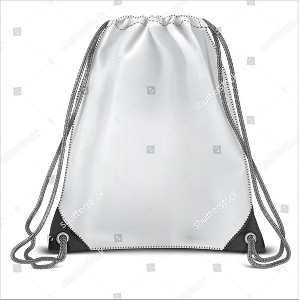 Vector White Backpack Bag Mockup