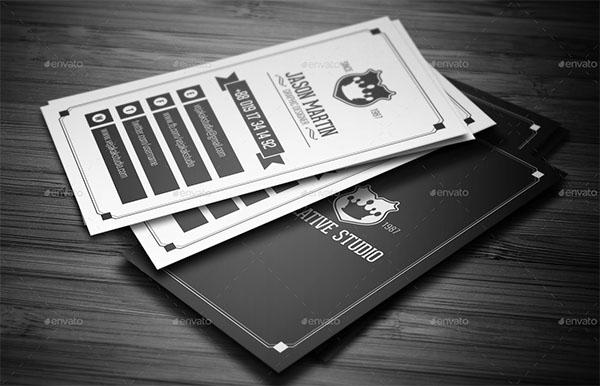 Vintage Agency Business Card