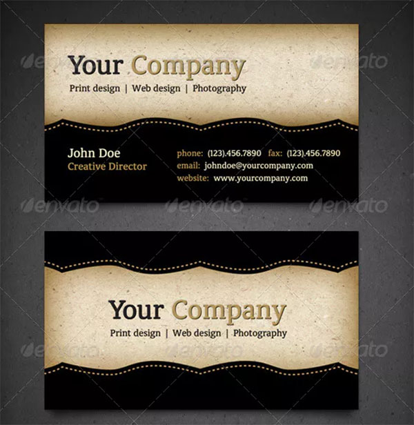 Vintage Business Card Design PSD